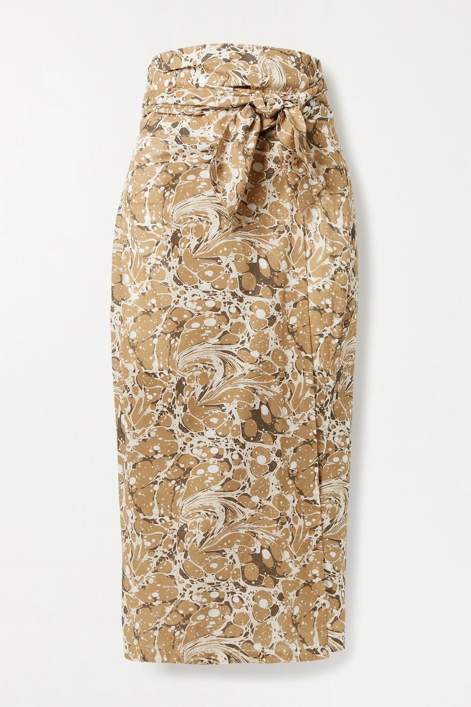USISI SISTER Jupe portefeuille en coton imprimé Jasmine