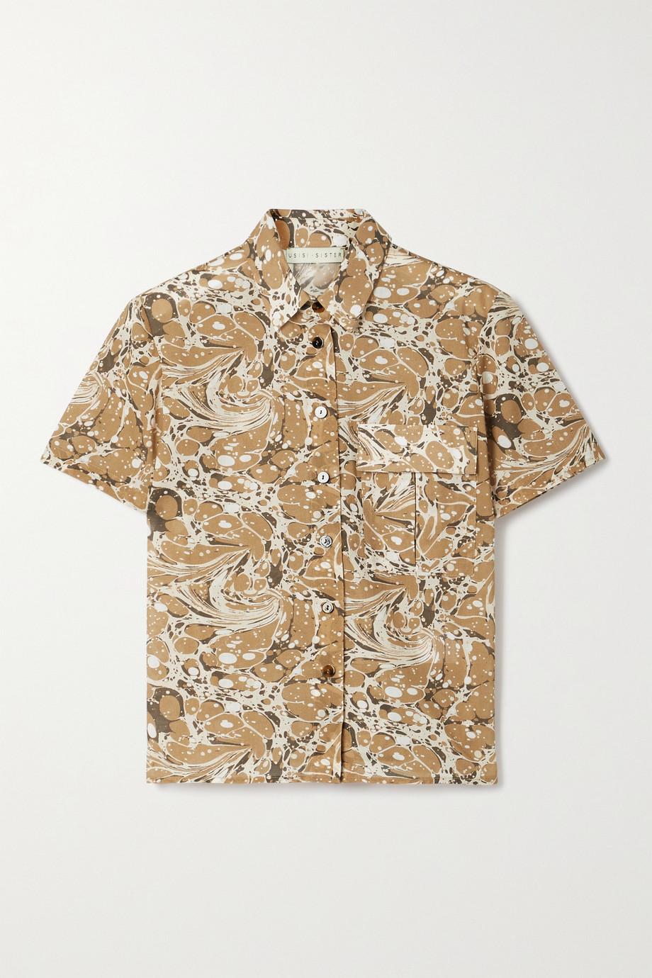 USISI SISTER Lucy printed cotton shirt