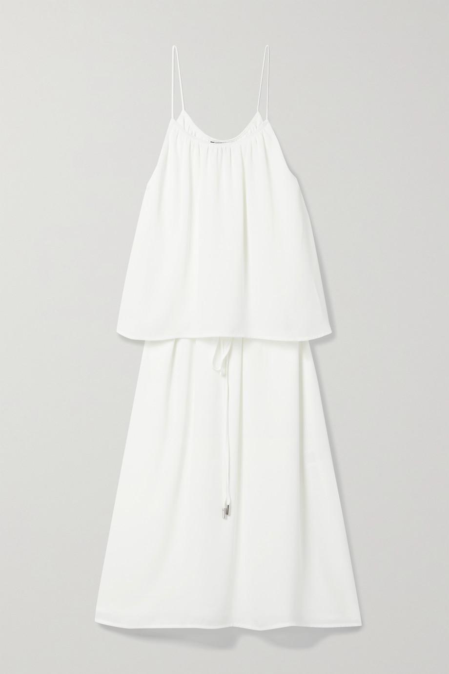 ATM Anthony Thomas Melillo Tie-detailed georgette midi dress