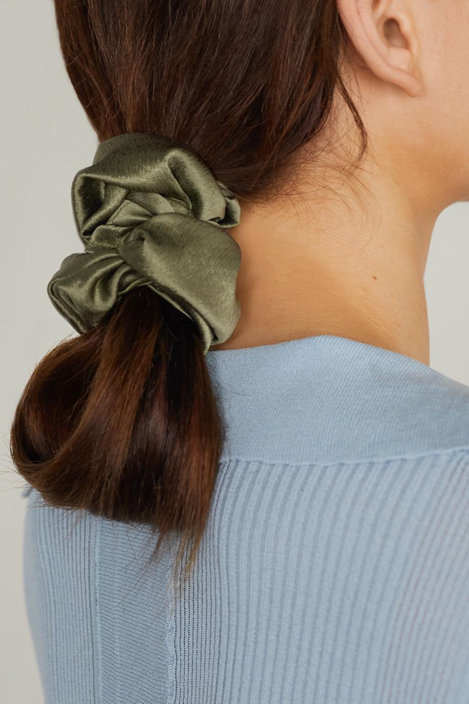 Jennifer Behr Hammered stretch-silk hair tie