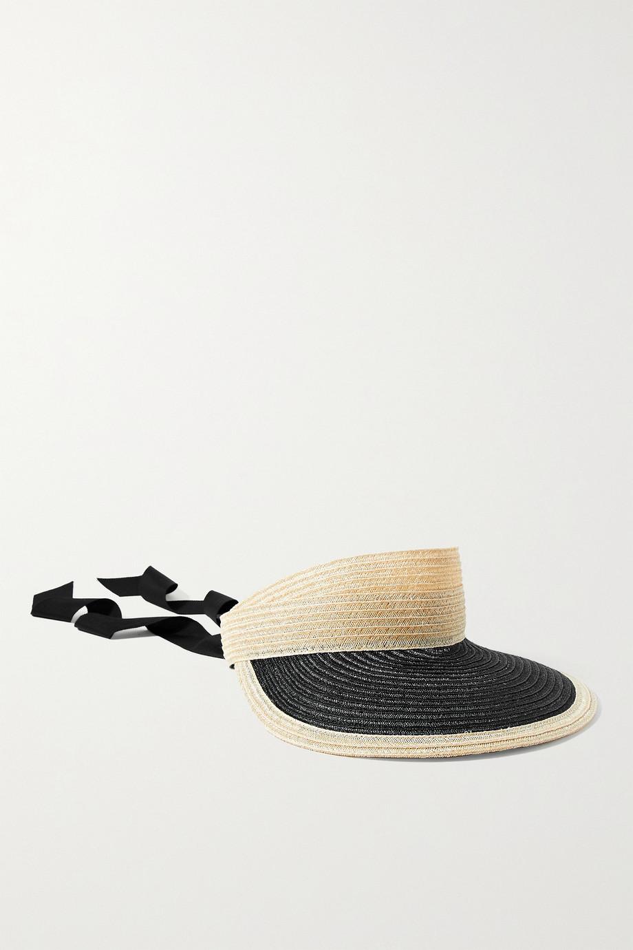 Eugenia Kim Ricky grosgrain-trimmed hemp visor