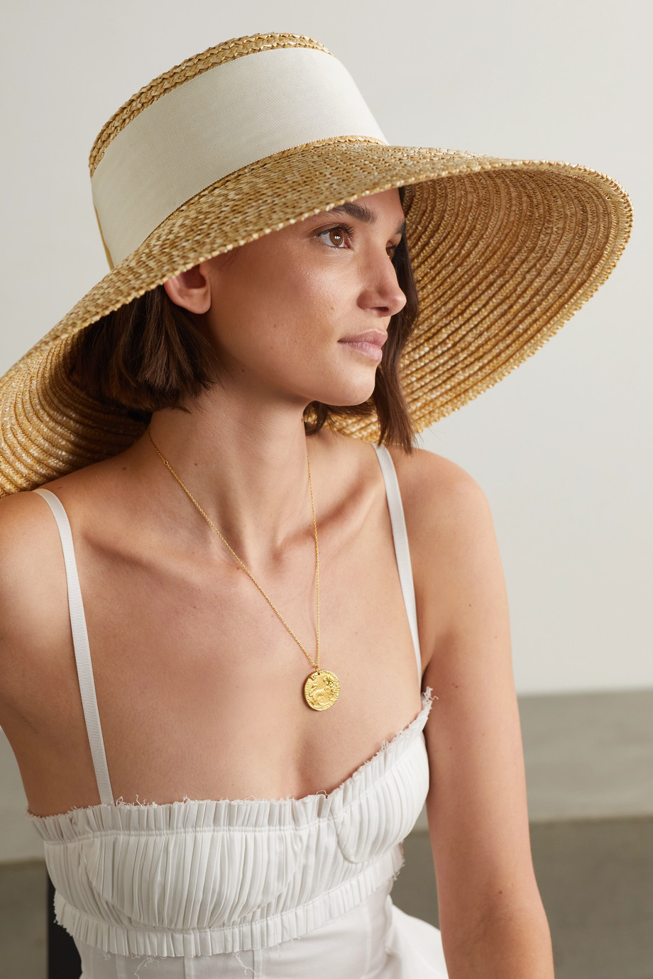 Eugenia Kim Mirabel grosgrain-trimmed straw hat