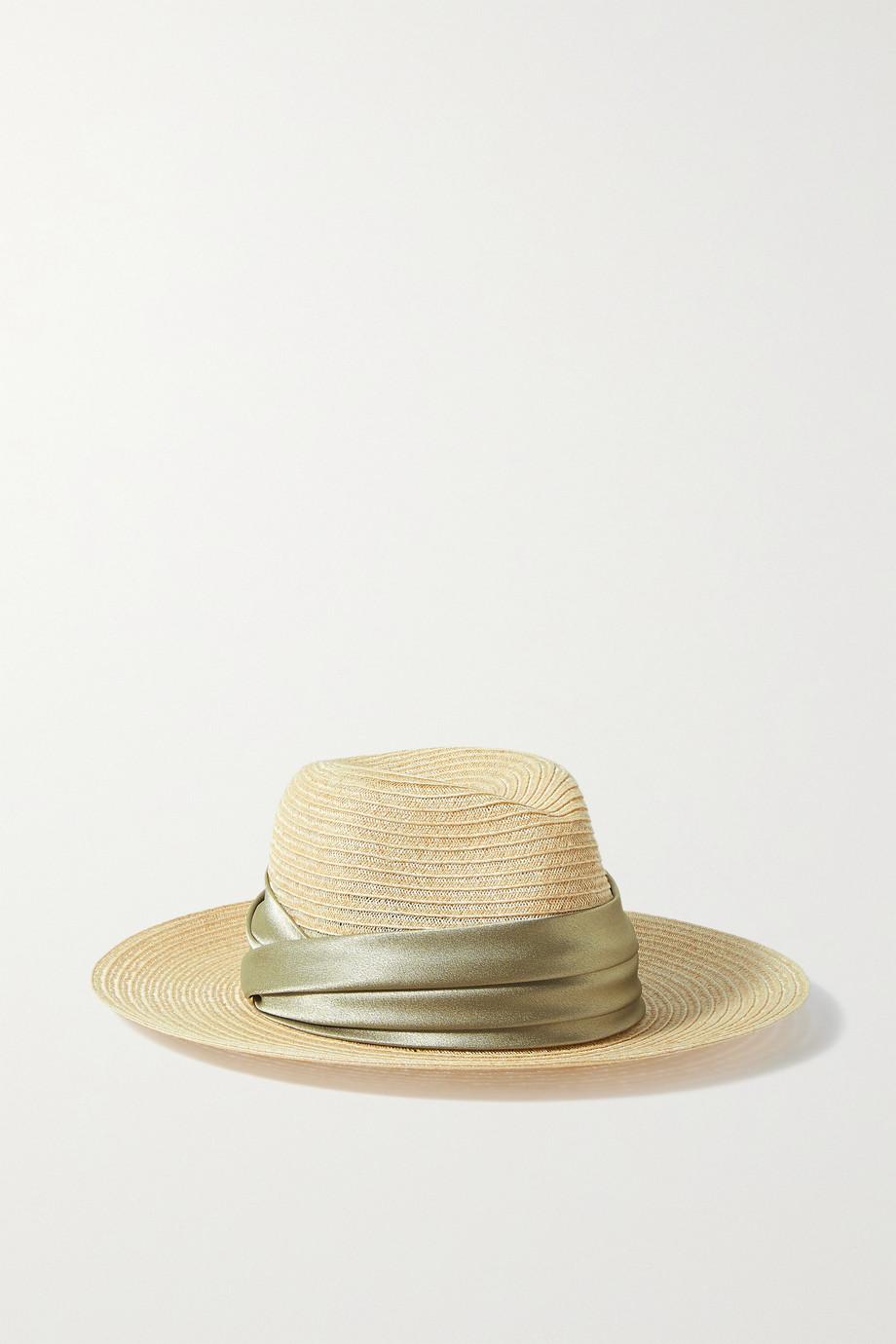 Eugenia Kim Courtney Hut aus einer Hanfmischung mit Satinbesatz