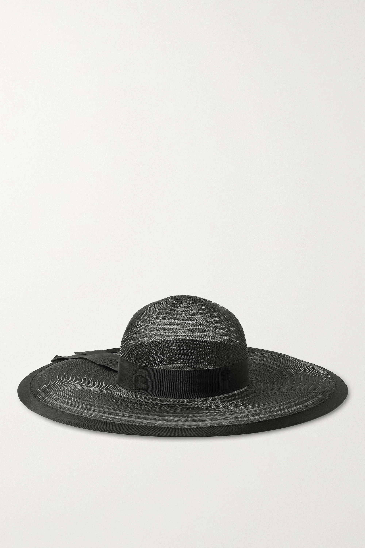 Eugenia Kim Bunny Hut aus Tüll mit Ripsbandbesatz