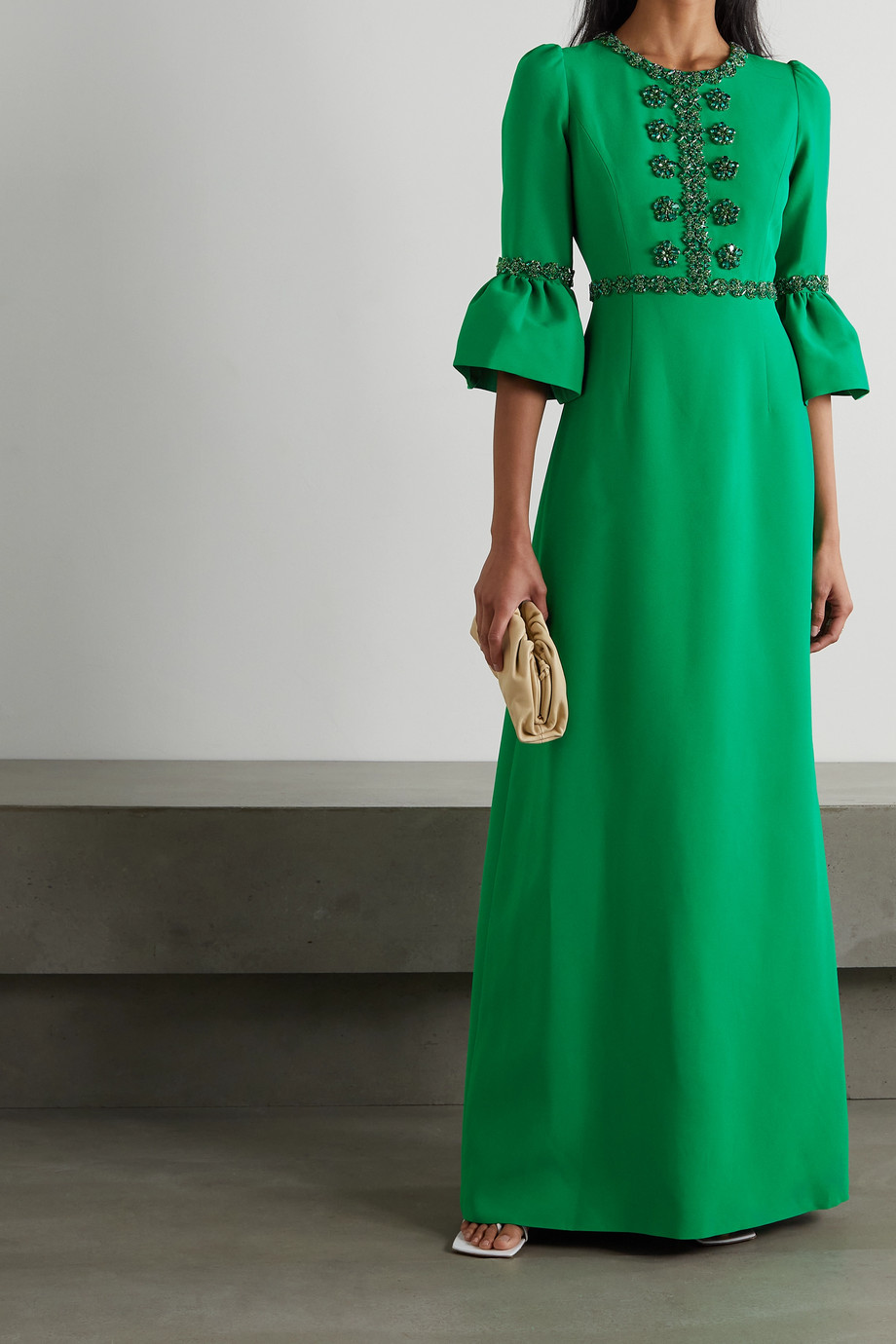 Andrew Gn Embellished crepe gown