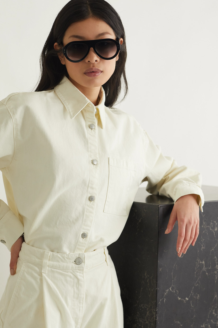 Isabel Marant D-frame acetate sunglasses