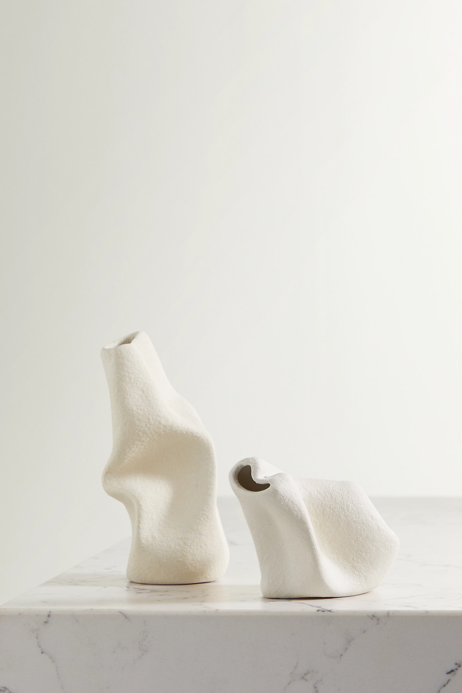 Completedworks + Ekaterina Bazhenova Yamasaki Goliath and Wake set of two ceramic vases