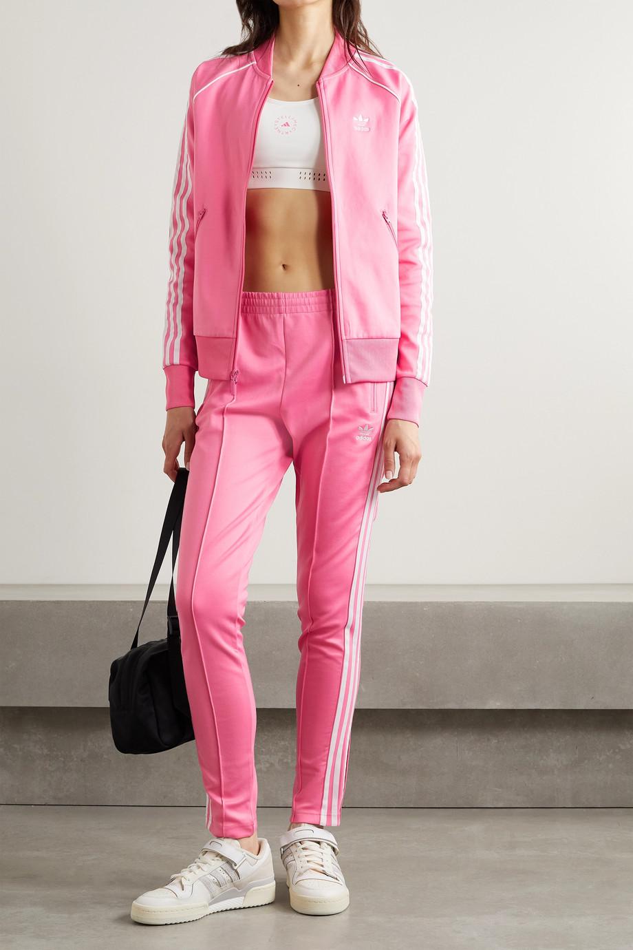 adidas Originals Adicolor Superstar Jogginghose aus glänzendem Jersey aus einer Baumwollmischung mit Streifen