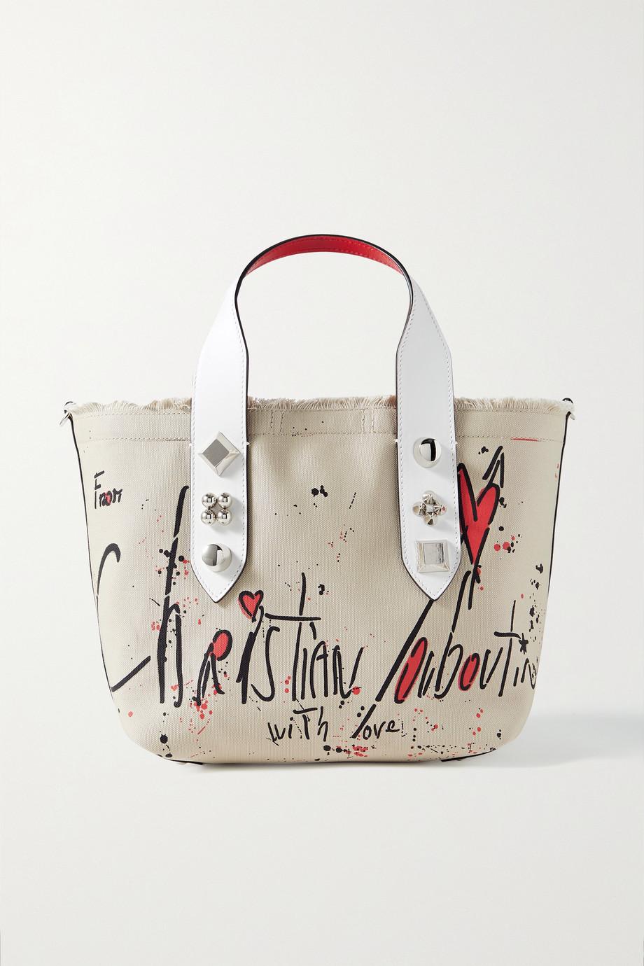 Christian Louboutin Sac à main en toile imprimée effilée à finitions en cuir Frangibus