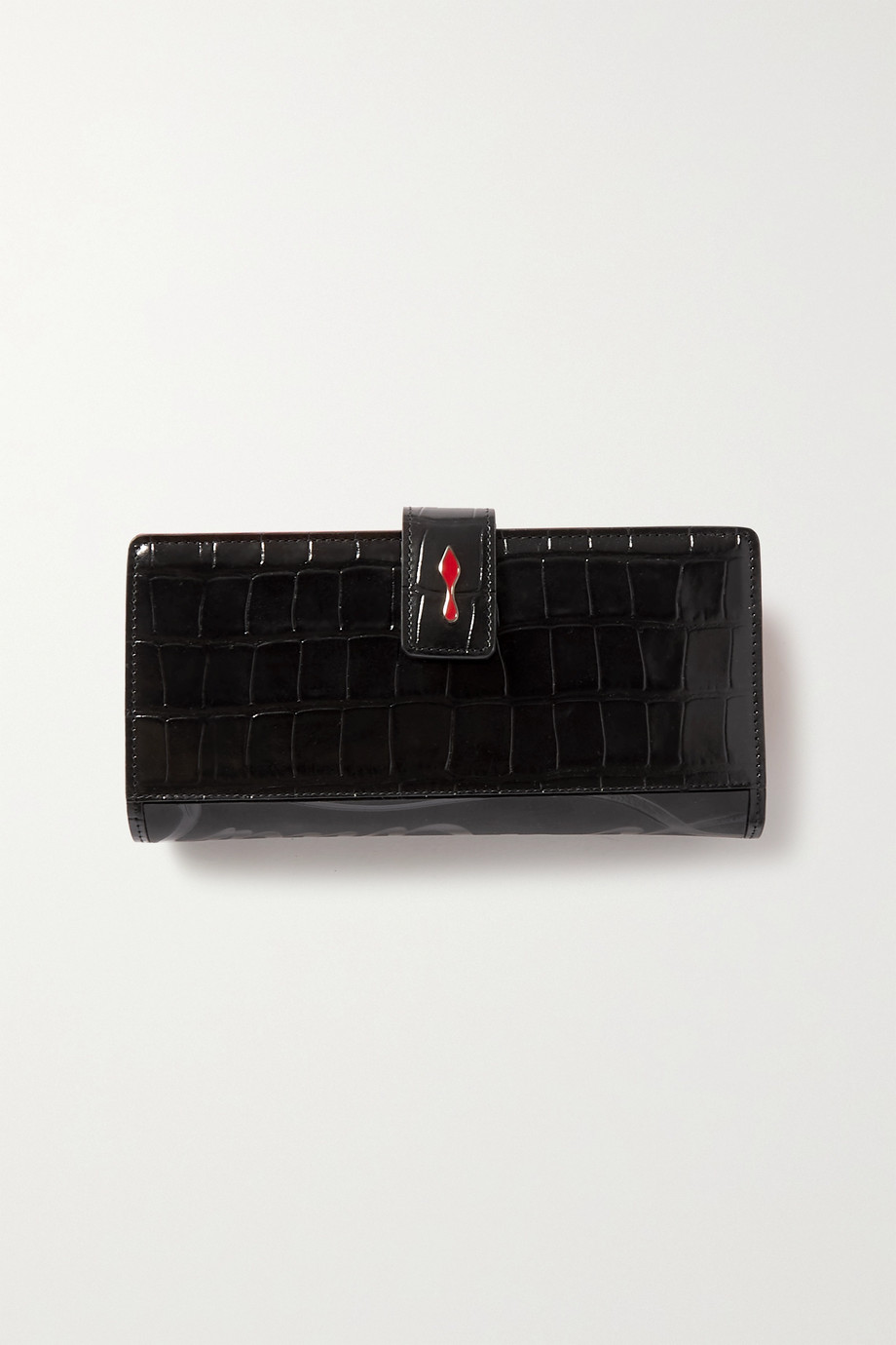 Christian Louboutin Paloma croc-effect glossed-leather wallet