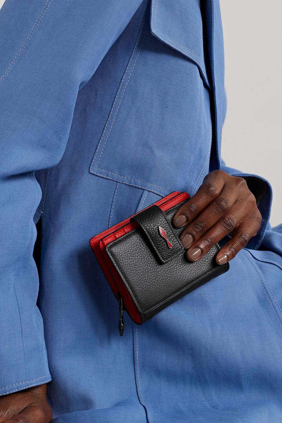 Christian Louboutin Paloma Portemonnaie aus strukturiertem Leder mit Gummibesatz