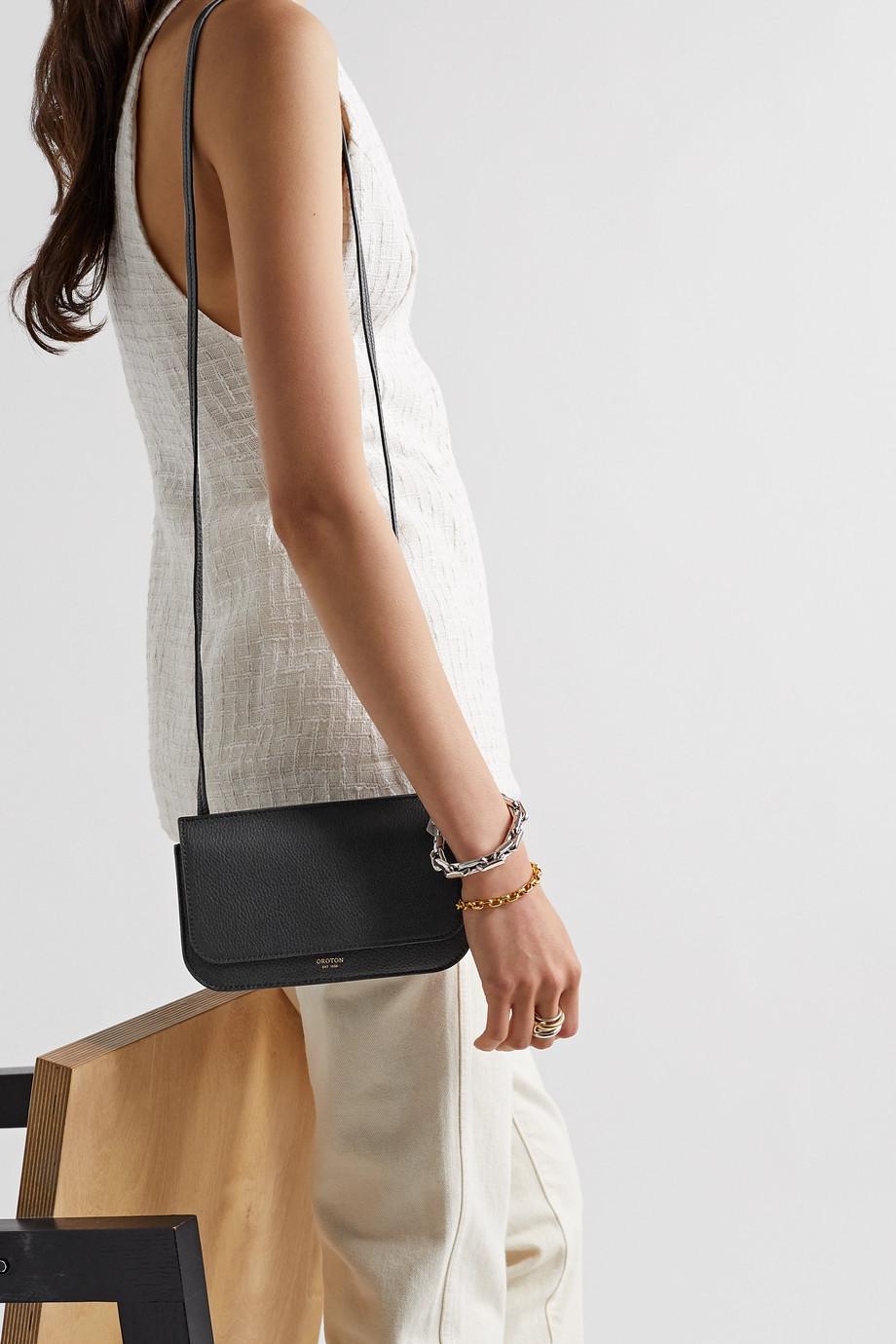 Oroton Margot mini textured-leather shoulder bag