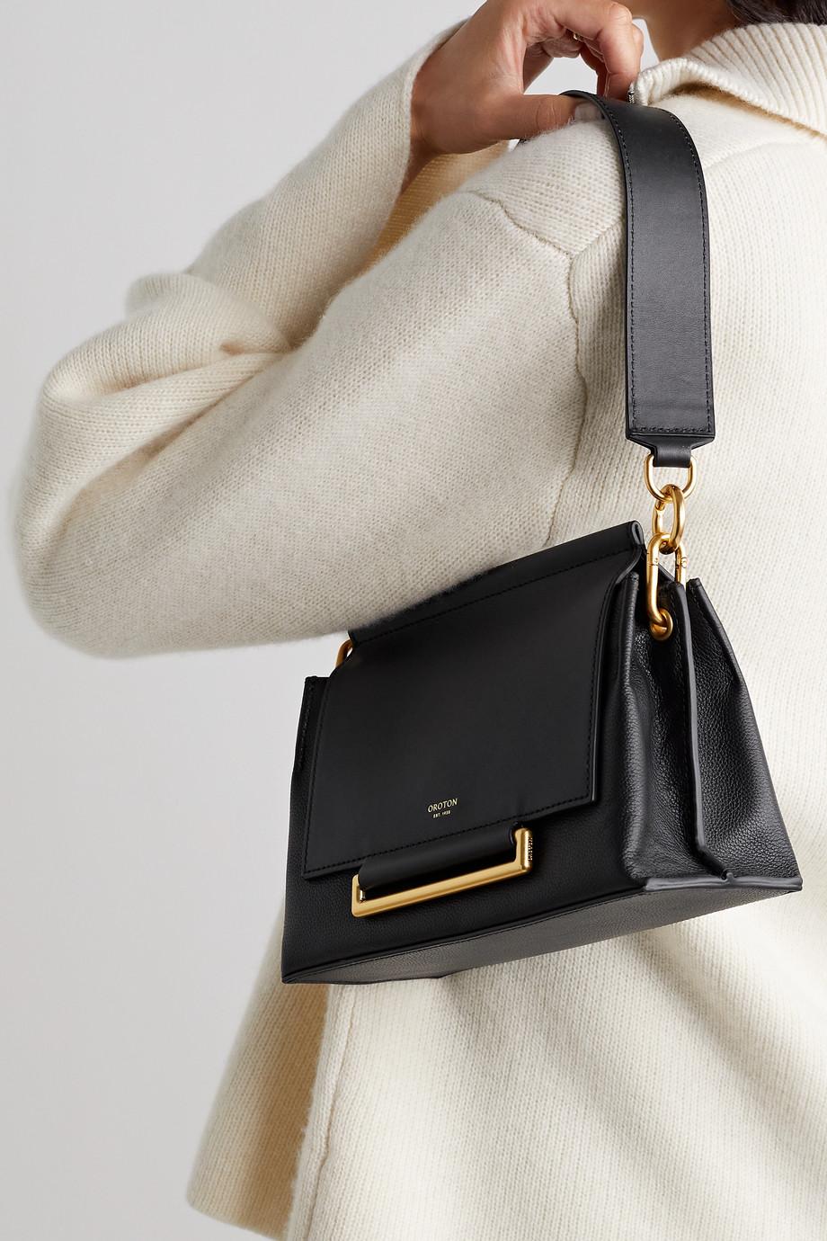 Oroton Elm leather shoulder bag