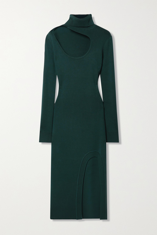 Monse - Cutout merino wool turtleneck midi dress