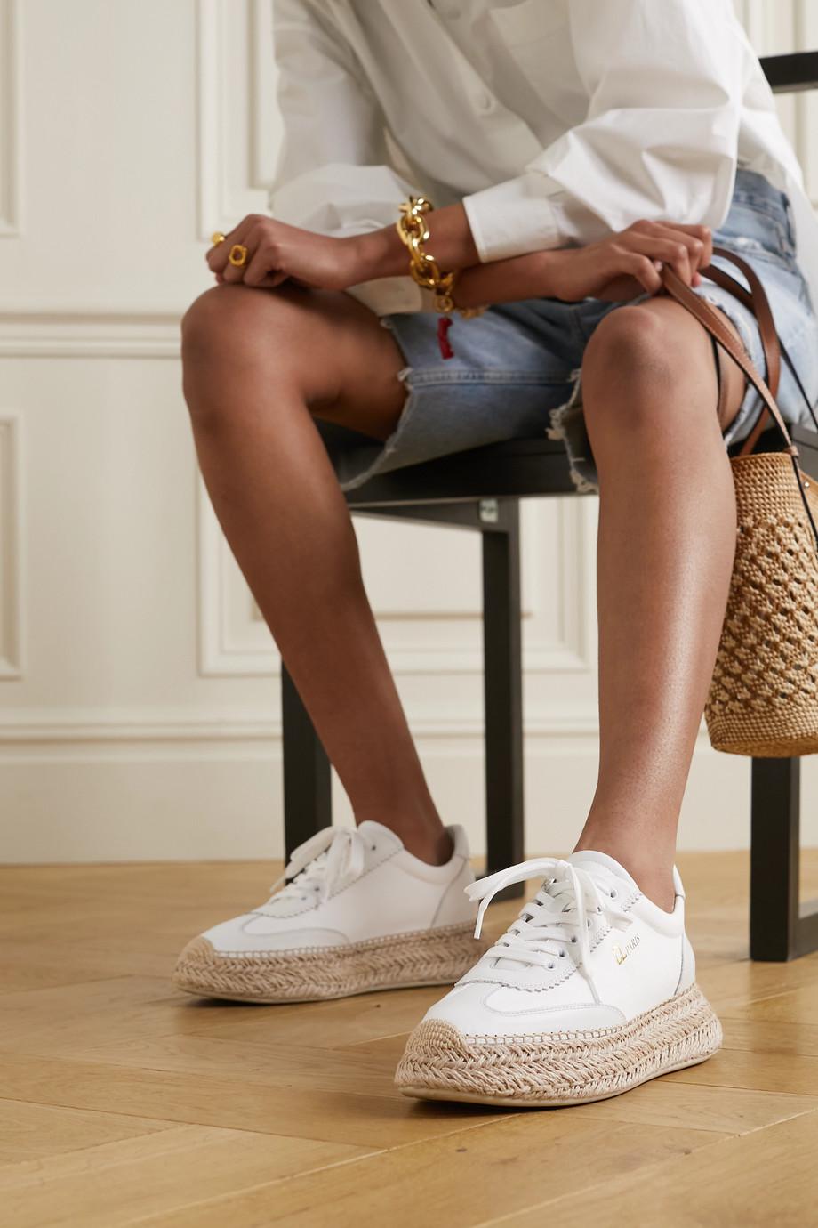 Christian Louboutin Espasneak leather espadrille platform sneakers
