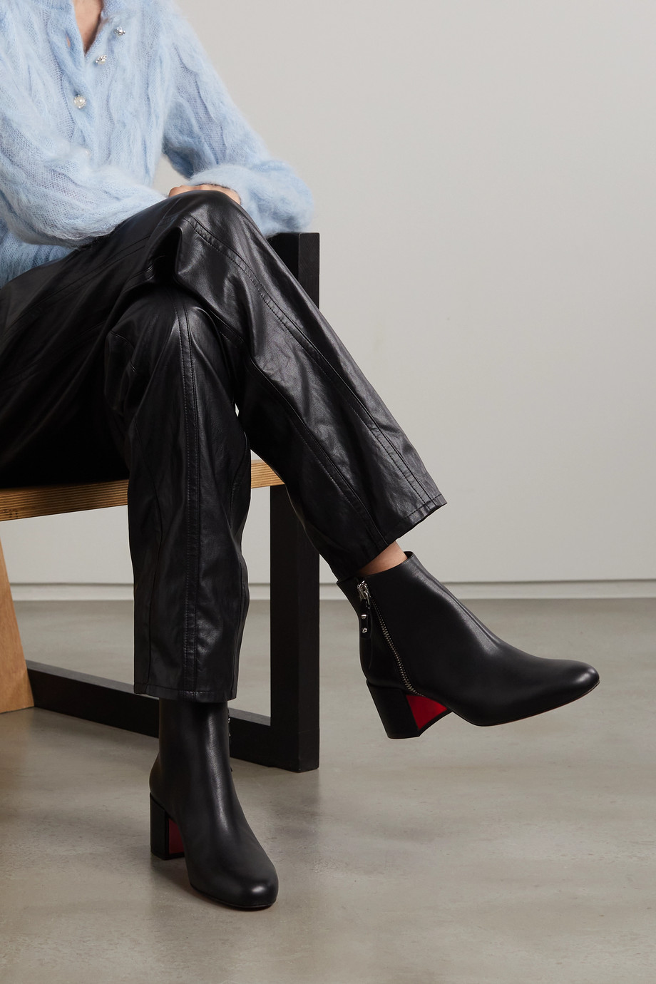 Christian Louboutin Ziptotal 55 Ankle Boots aus Leder