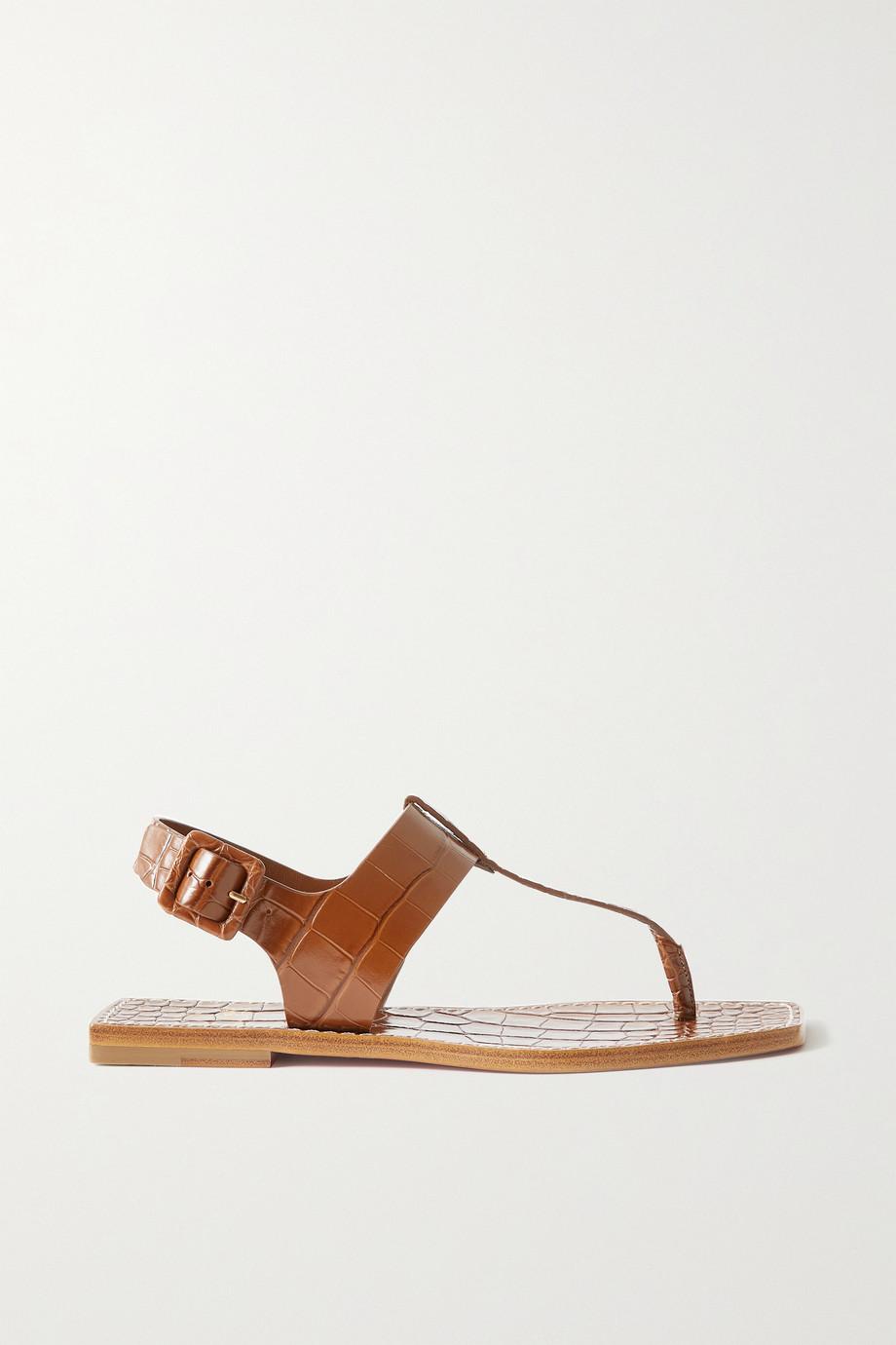 Christian Louboutin Cubongo croc-effect leather slingback sandals