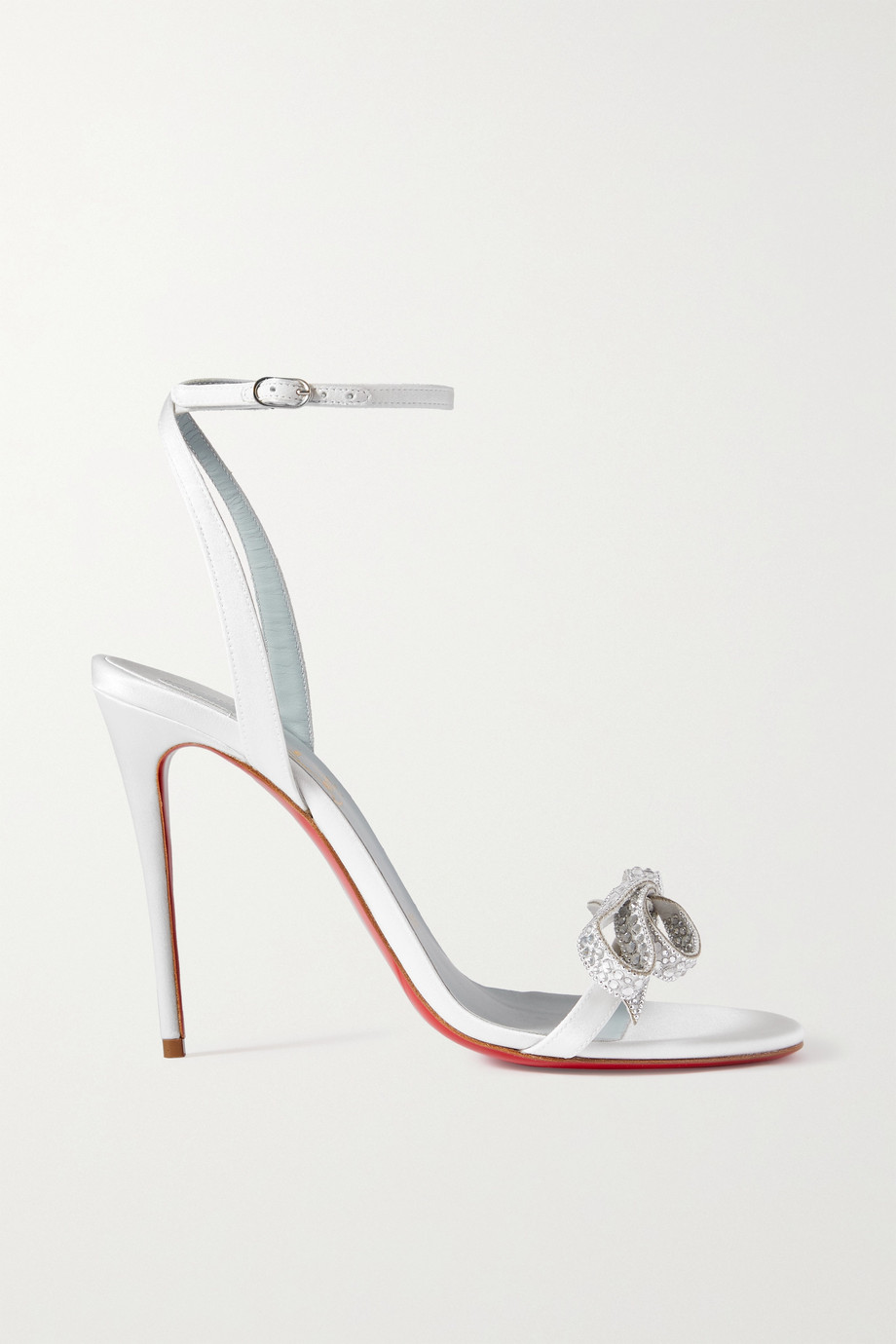 Christian Louboutin Jewel Queen 100 crystal-embellished satin sandals