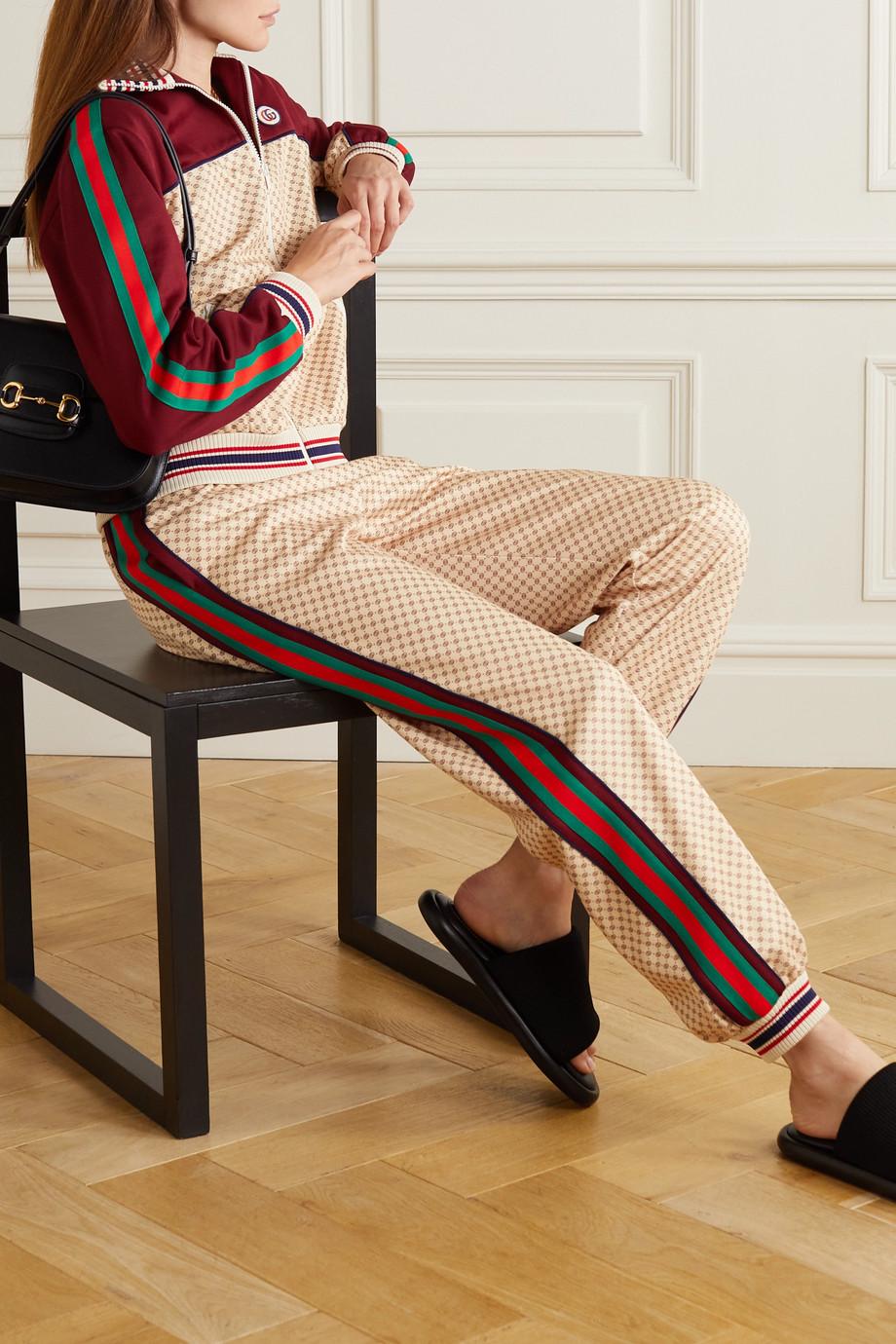 Gucci Veste de survêtement en jersey imprimé à appliqué