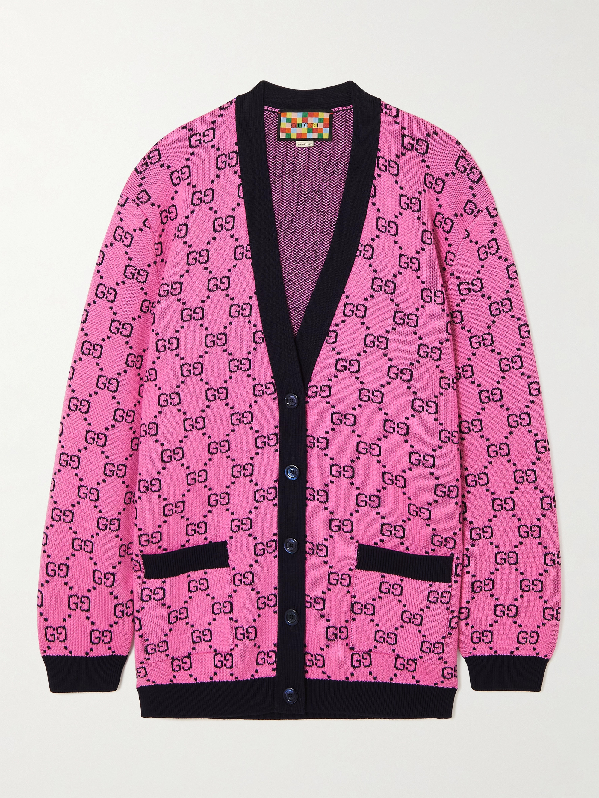 Gucci Intarsia wool and cotton-blend cardigan