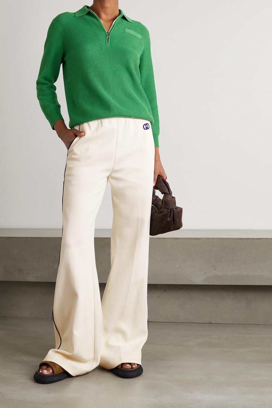 Gucci Pantalon de survêtement en serge à appliqué