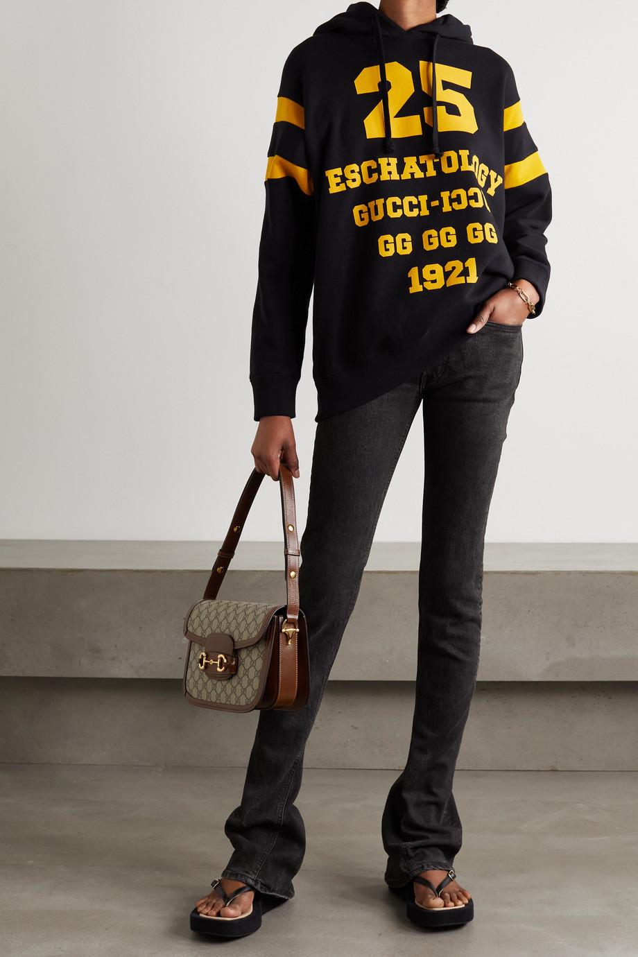 Gucci Sweat à capuche oversize en jersey de coton imprimé
