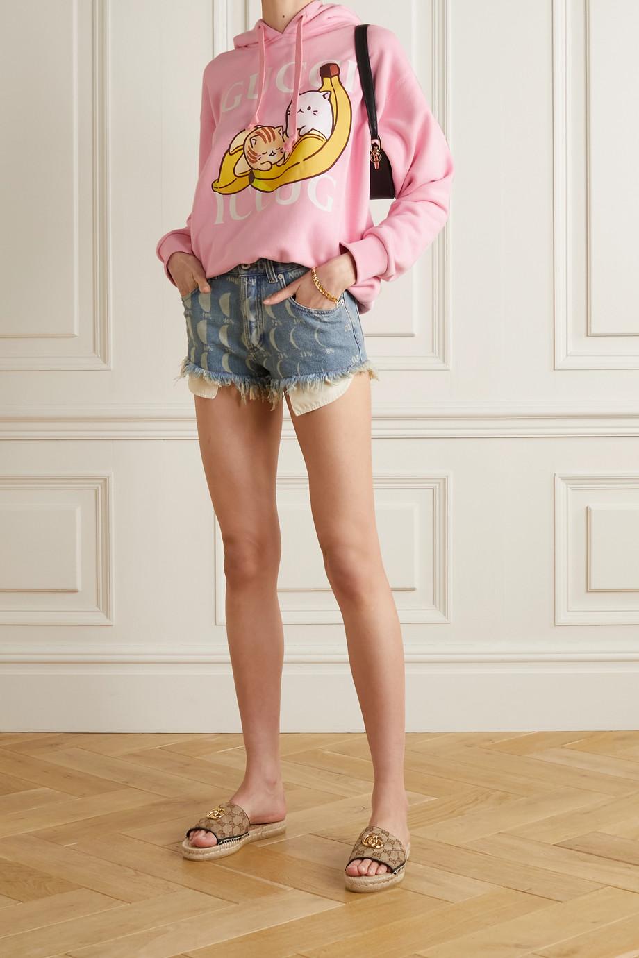 Gucci Sweat à capuche oversize en jersey de coton imprimé x Bananya
