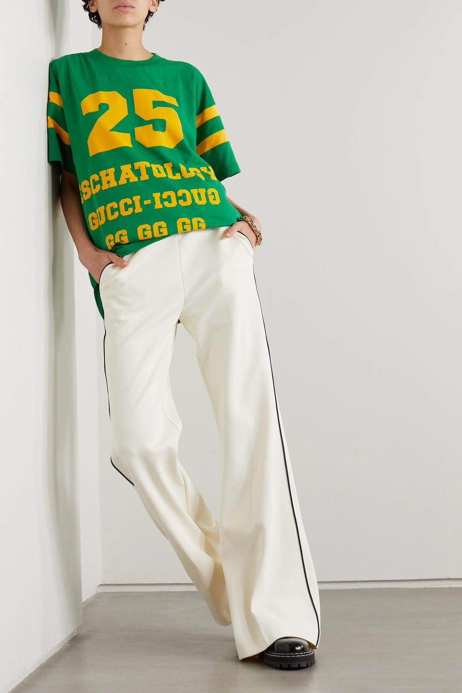 Gucci Eschatology oversized printed cotton-jersey T-shirt