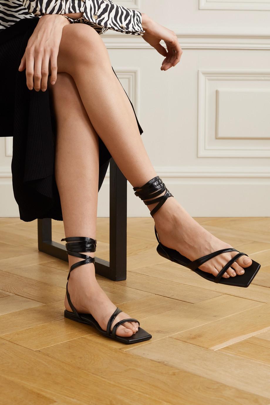 The Attico Elettra patent-leather sandals