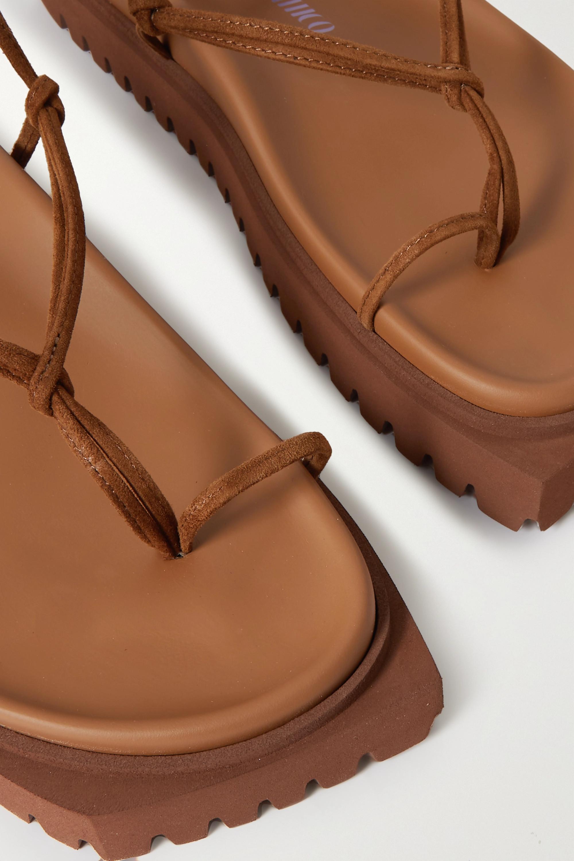 The Attico Sandales plates-formes en daim Renee