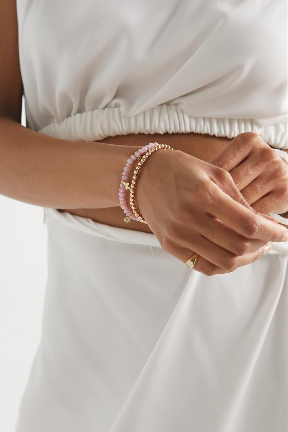 Sydney Evan Bracelet en or 14 carats, quartz et diamants Pure Charm