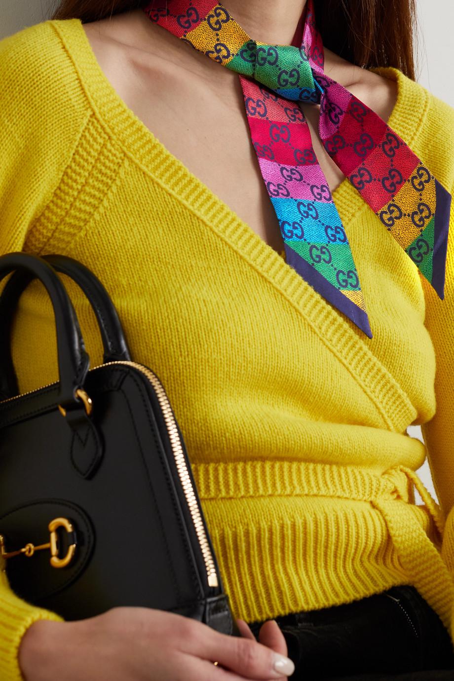 Gucci Printed silk-twill scarf