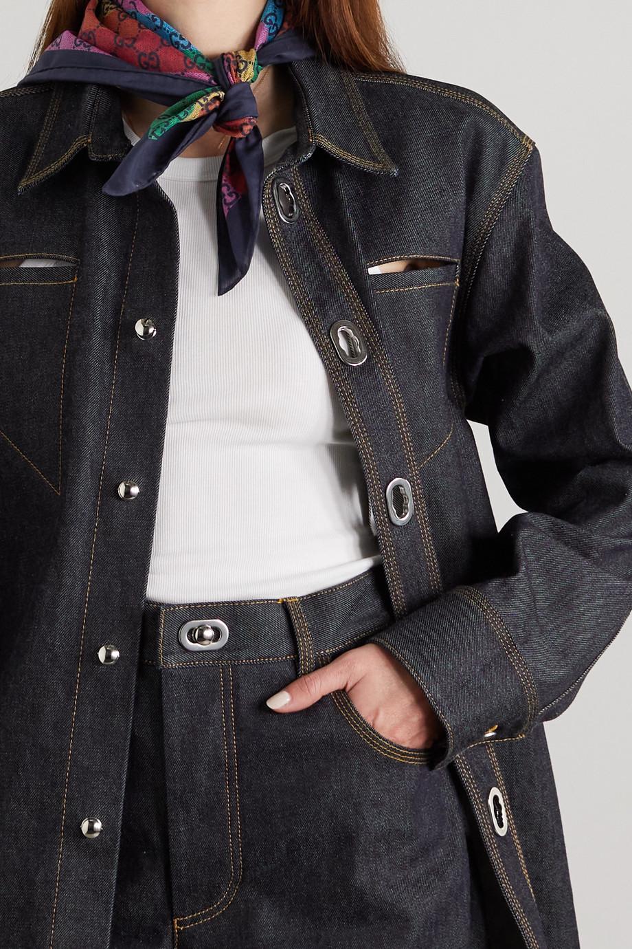 Gucci Foulard en voile de coton imprimé