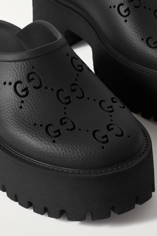 Gucci Elea perforated rubber platform mules