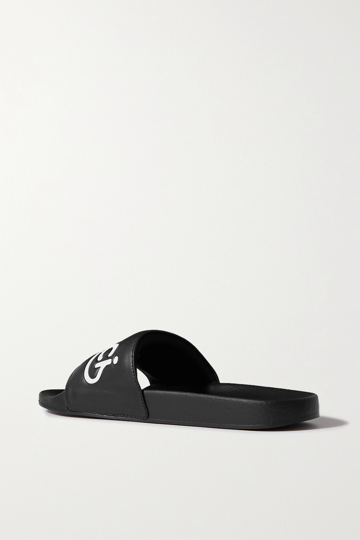 Gucci Pursuit logo-embossed leather slides