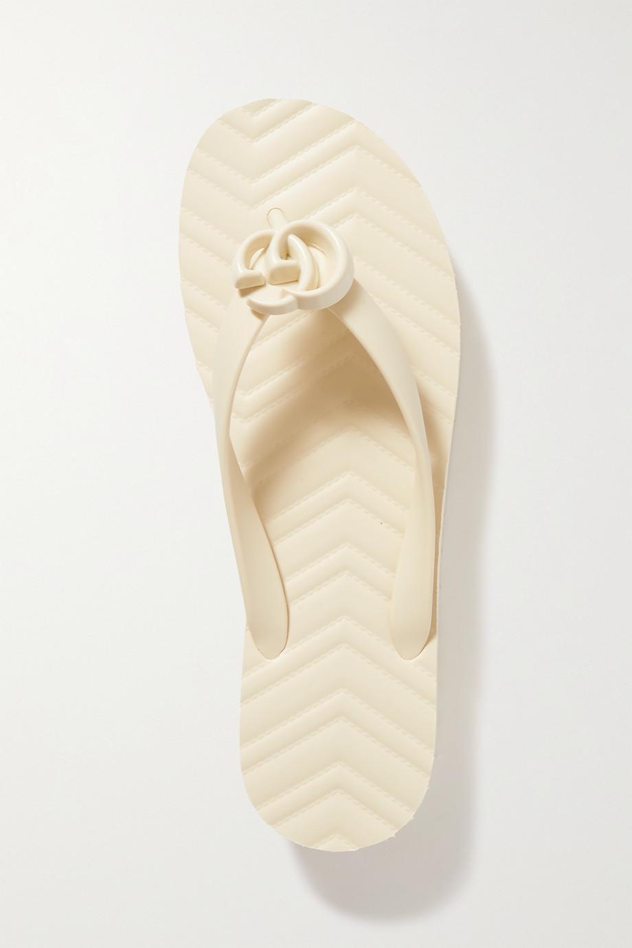 Gucci Tongs plates-formes en caoutchouc à logo Pascar