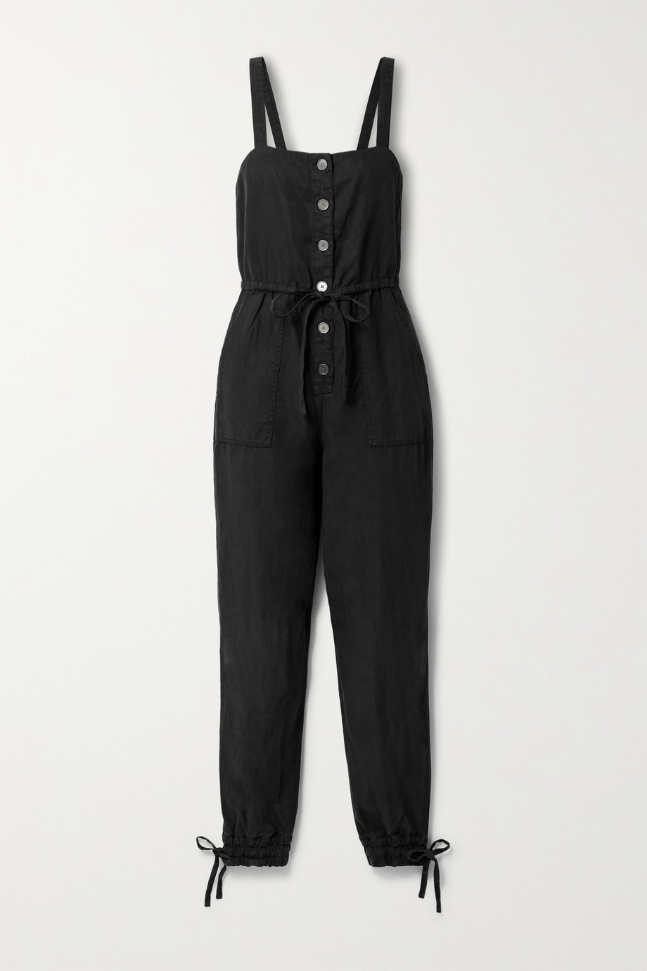 Alice + Olivia Tiana Lyocell, linen and cotton-blend jumpsuit
