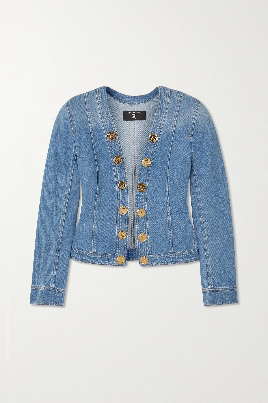 Balmain Veste en jean à boutons