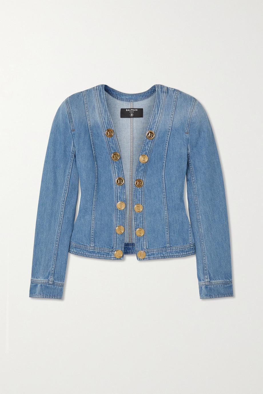 Balmain Button-embellished denim jacket