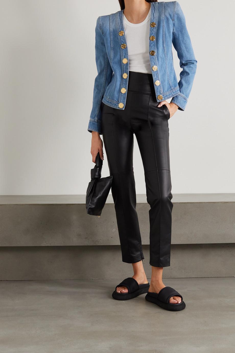 Balmain Jeansjacke mit Zierknöpfen