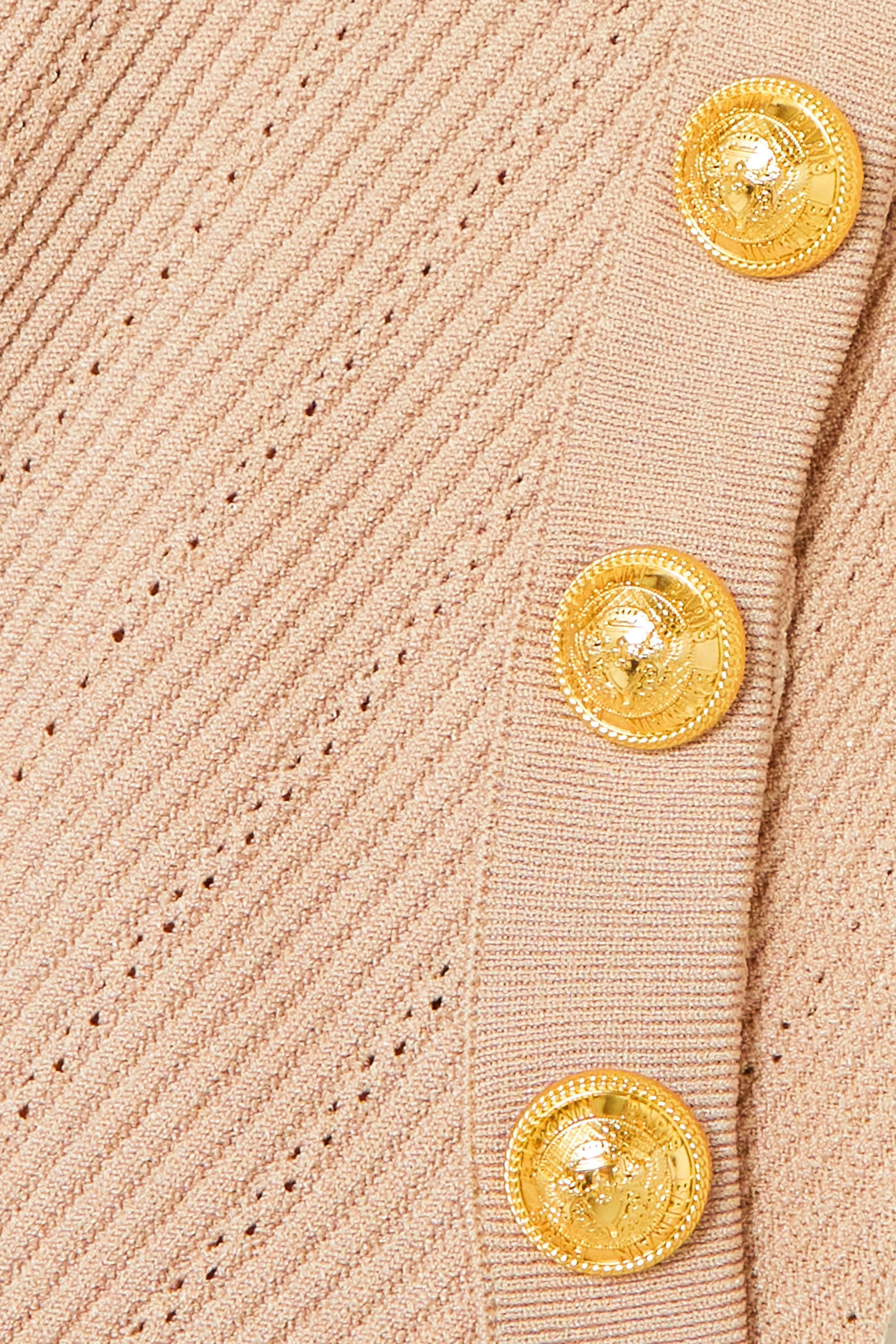 Balmain Débardeur en mailles côtelées à boutons