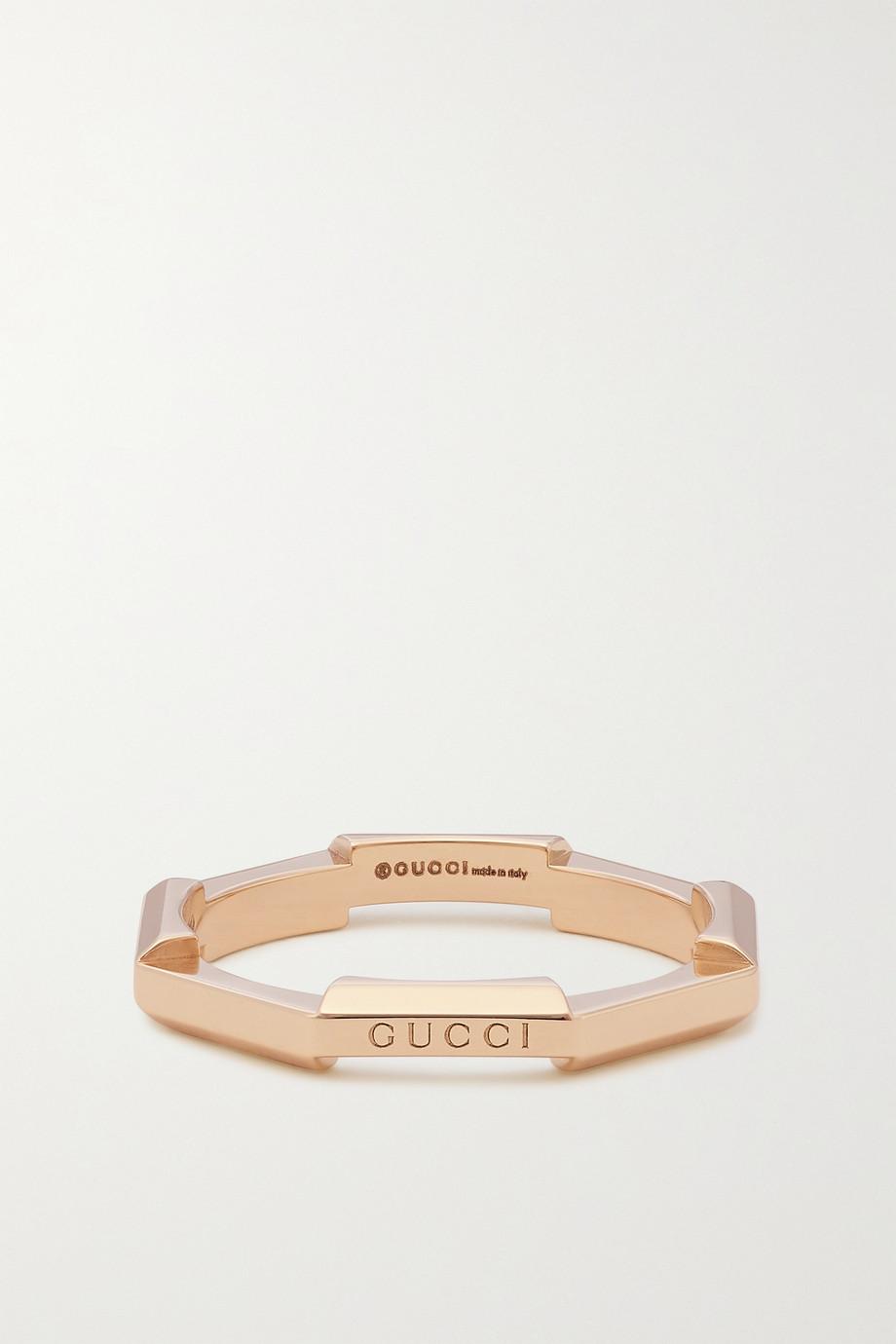 Gucci Link to Love 18-karat rose gold ring