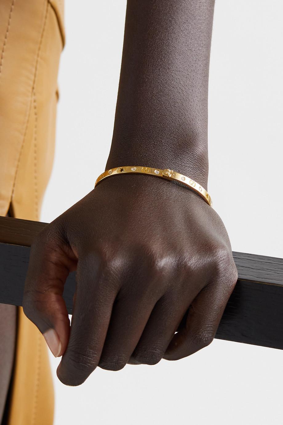 Gucci Bracelet jonc en or 18 carats (750/1000) et diamants Icon
