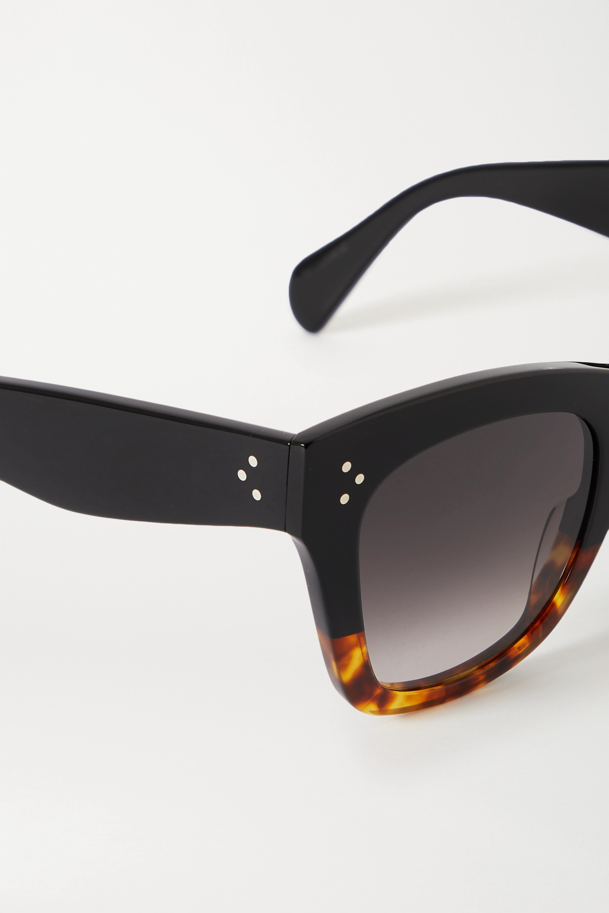 CELINE Eyewear Oversized cat-eye tortoiseshell acetate sunglasses