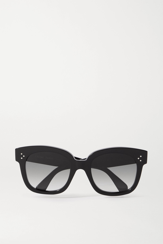 CELINE Eyewear Sonnenbrille mit eckigem Rahmen aus Azetat