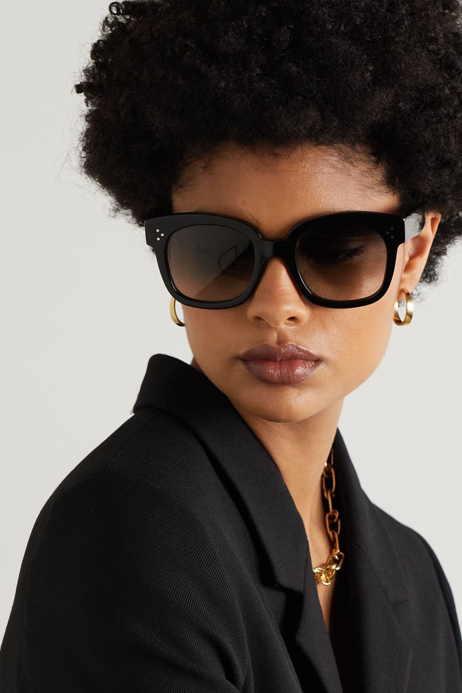 Celine Square-frame acetate sunglasses