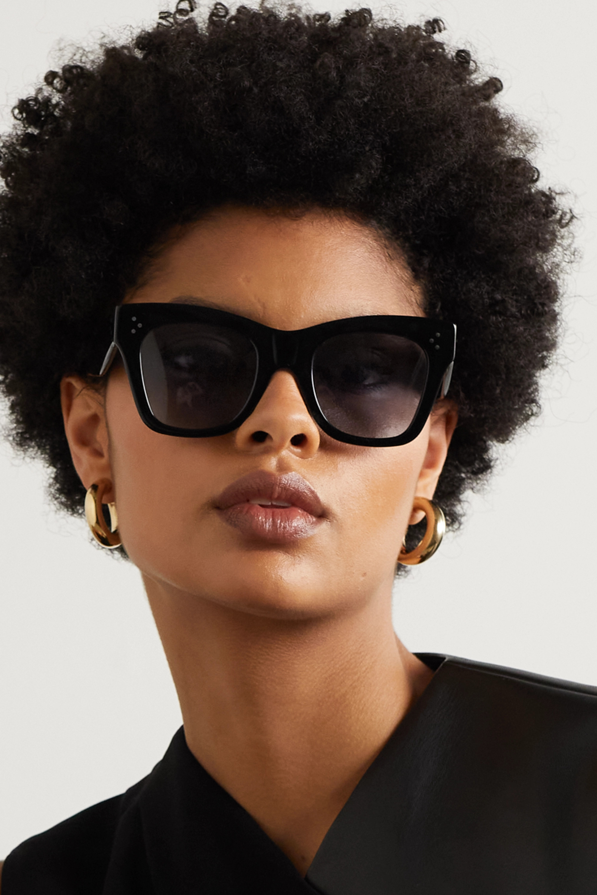 CELINE Eyewear Lunettes de soleil œil-de-chat oversize en acétate