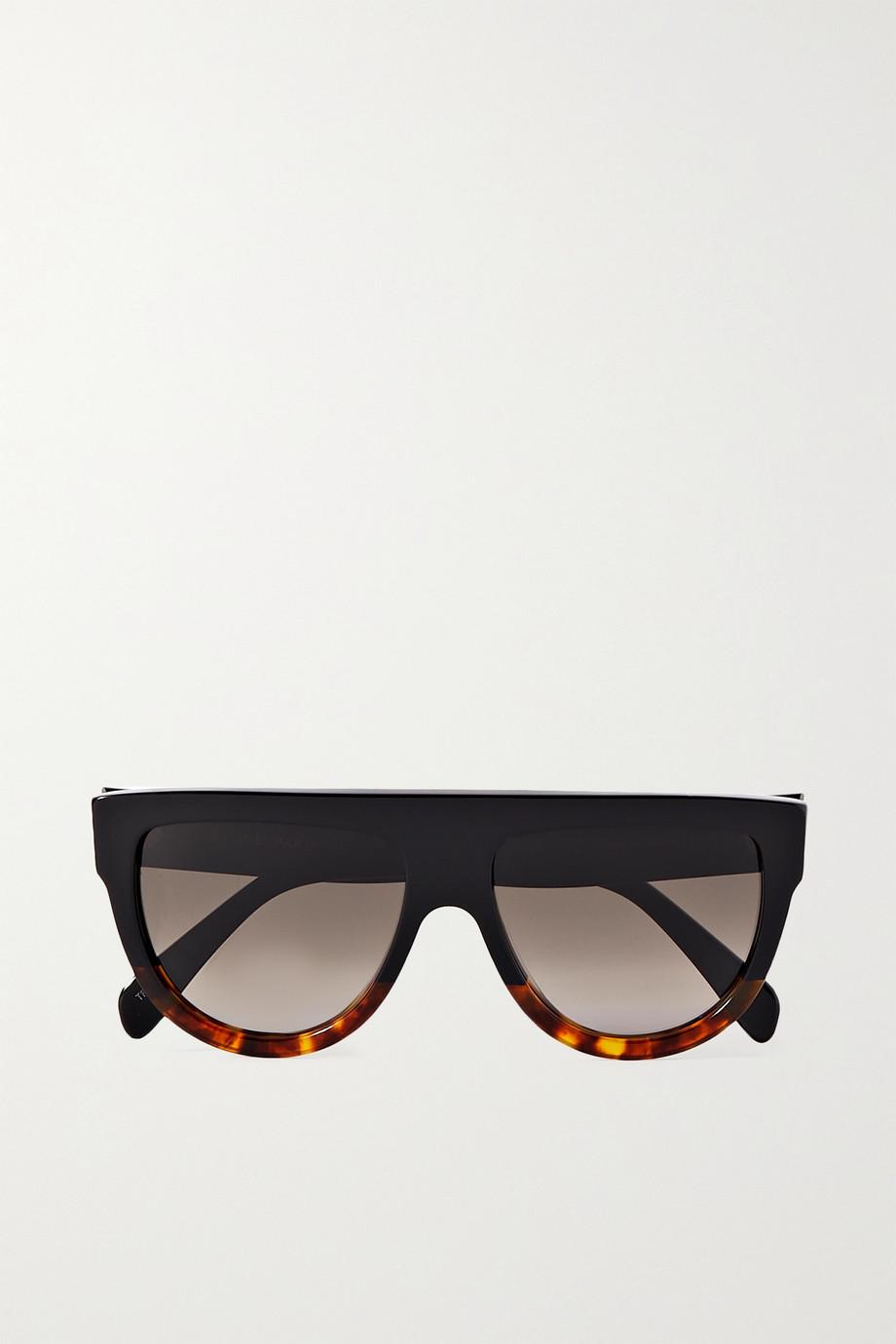 Celine Sonnenbrille mit D-Rahmen aus Azetat in Hornoptik