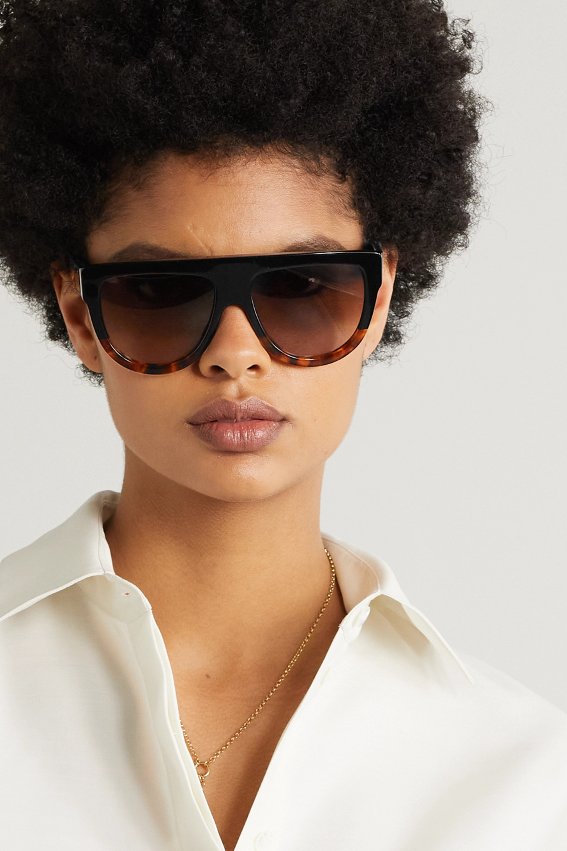 CELINE Eyewear Sonnenbrille mit D-Rahmen aus Azetat in Hornoptik