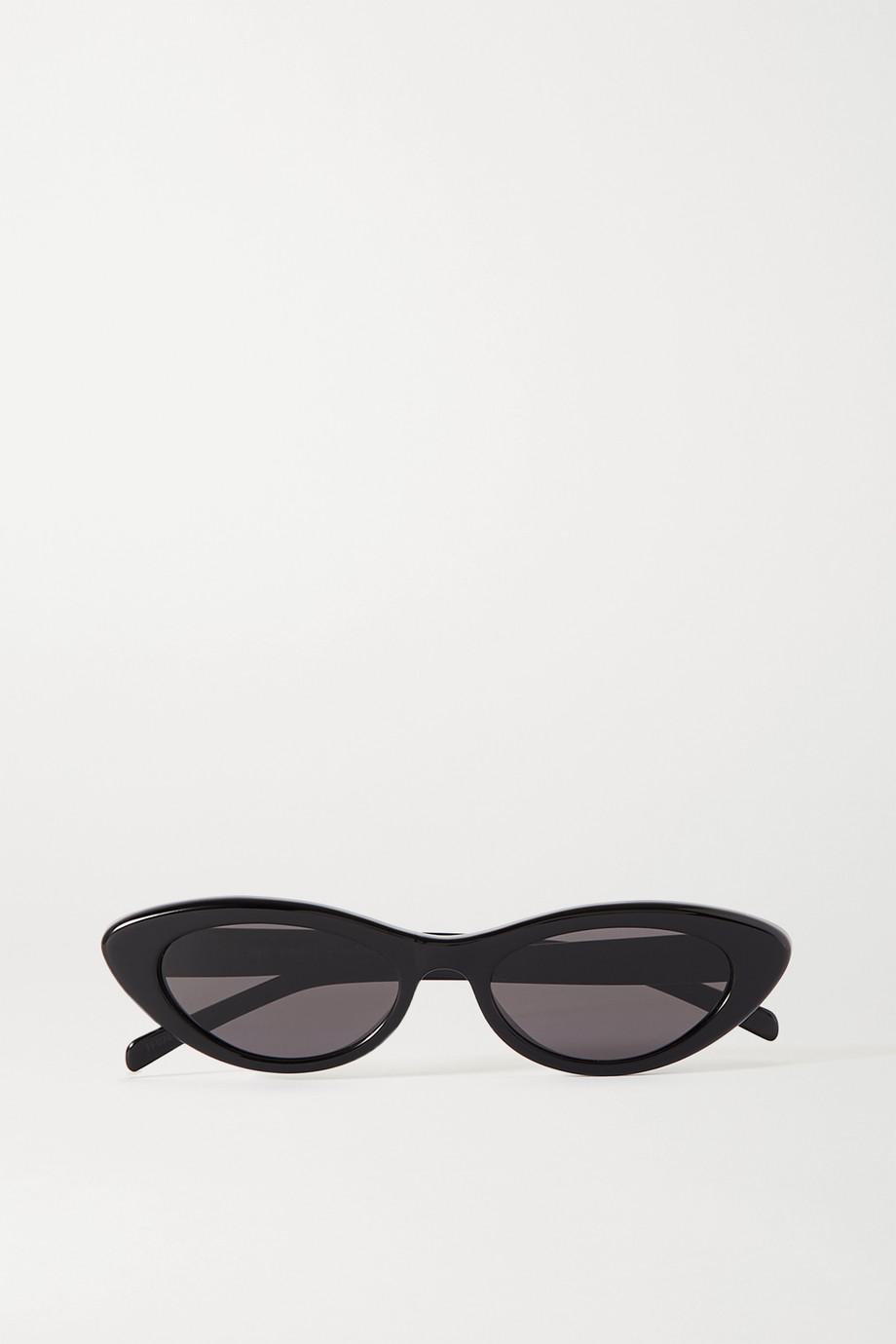 Celine Schmale Sonnenbrille mit Cat-Eye-Rahmen aus Azetat